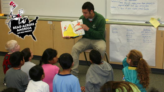 STUDENT-ATHLETES TAKE PART IN READ ACROSS AMERICA