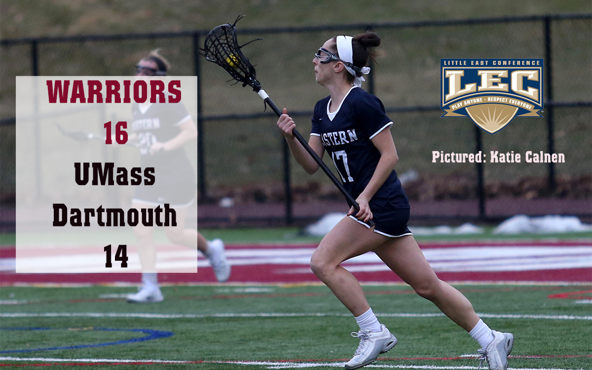 Women's Lacrosse: Red-Hot Warriors Subdue Stubborn UMass, Gain No. 2 LEC Seed