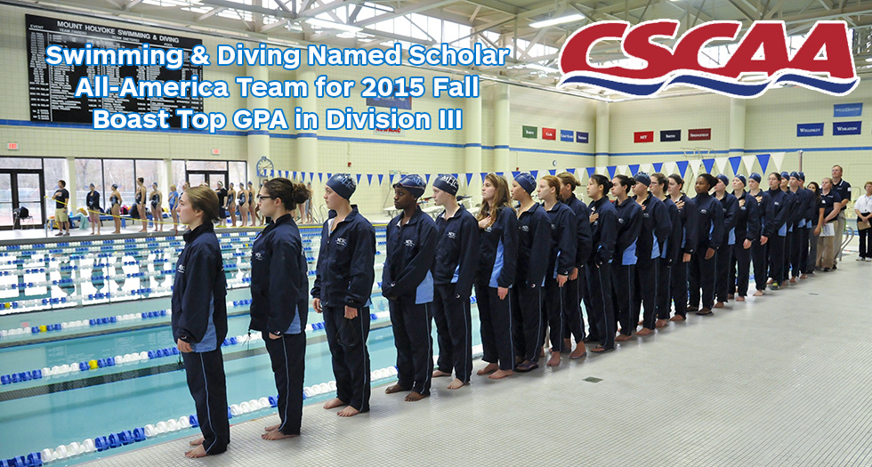 Swimming & Diving Boasts Top GPA in Division III