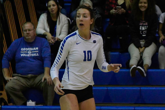 WOMEN'S VOLLEYBALL FALL TO COYOTES