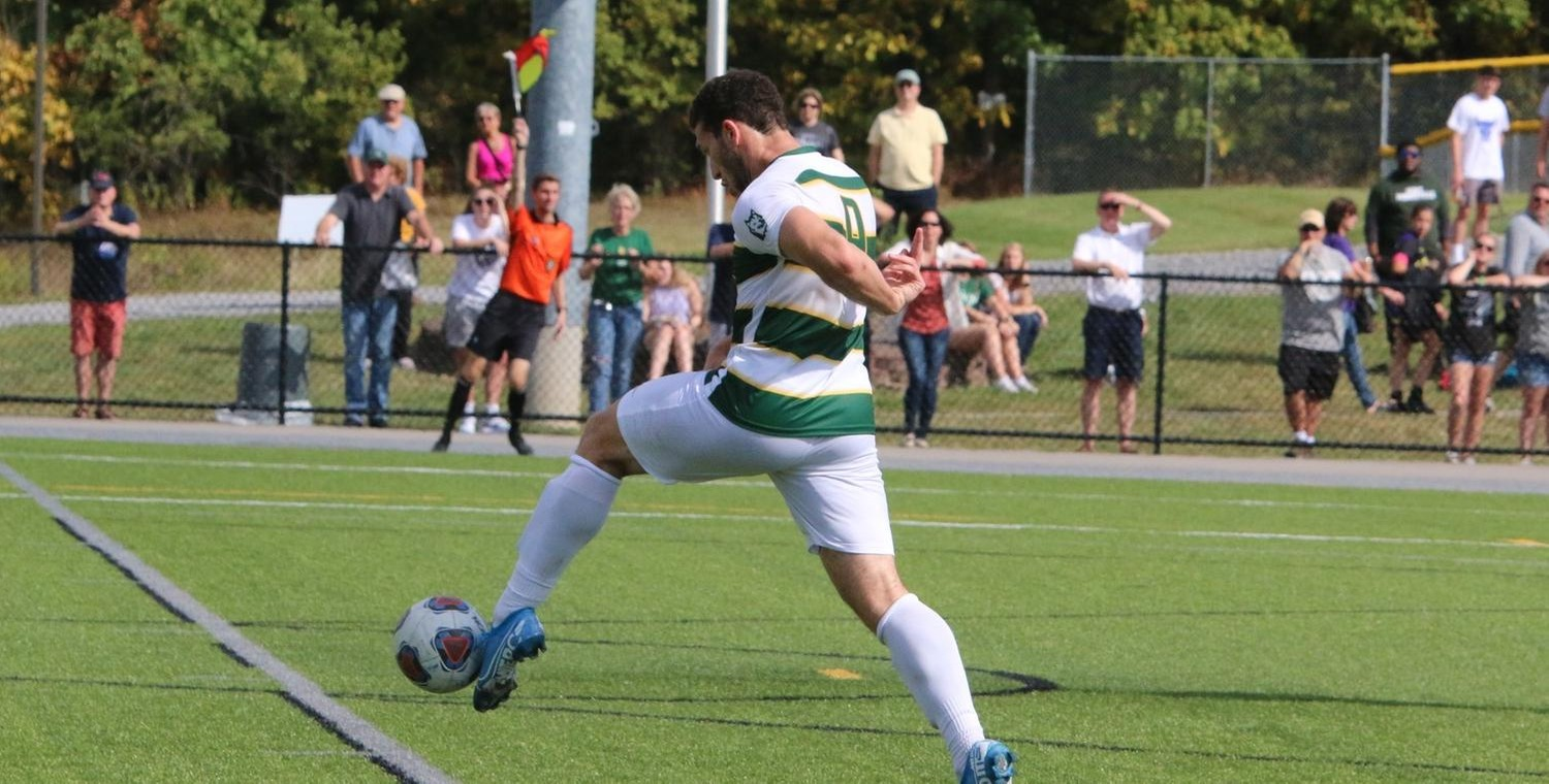 Seth Spurgeon (9) scored his fifth goal of the season on Saturday