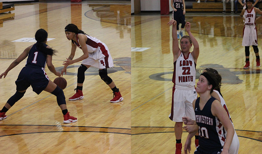 Lamp's 33 Points Lead The Lady Pirates To Victory Over Southwestern CC