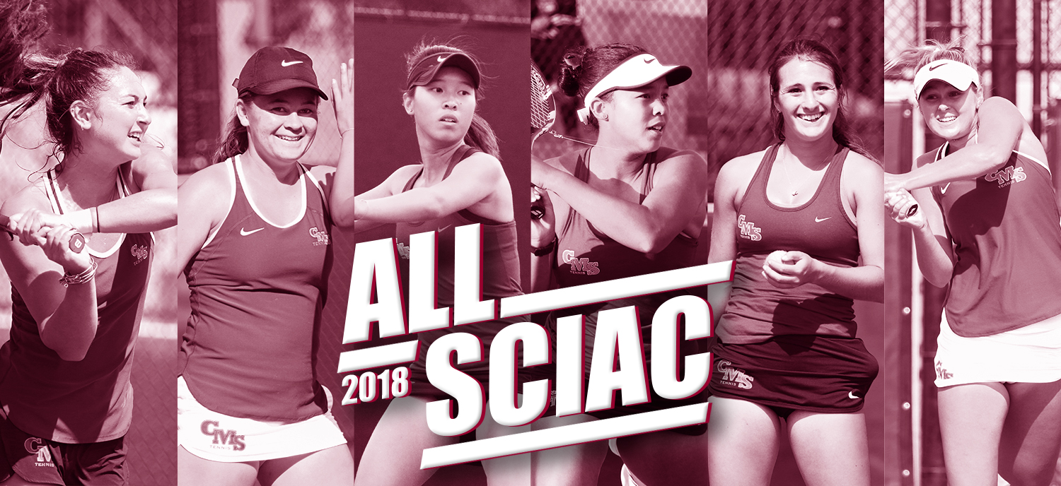 L to R: Allen, Brown, Tan, Scott, Berger, Cox earned All-SCIAC honors this season.
