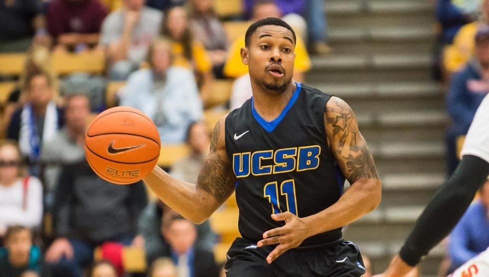 T.J. Taylor had season-highs of eight points and four assists in UCSB's game vs. Akron on Monday. (Photo by Tony Mastres)