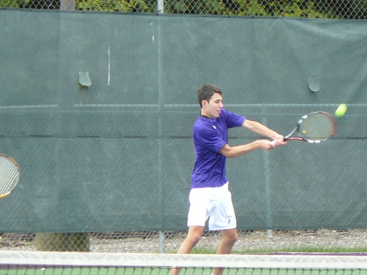 Senior Mike Pannone was one of four Royals two win two matches in a 9-0 victory at Merchant Marine Academy on Saturday.