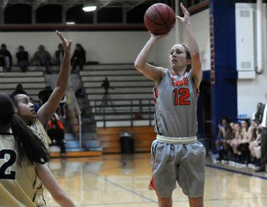 Late shutdown defense leads Lady Eagles to 57-50 win