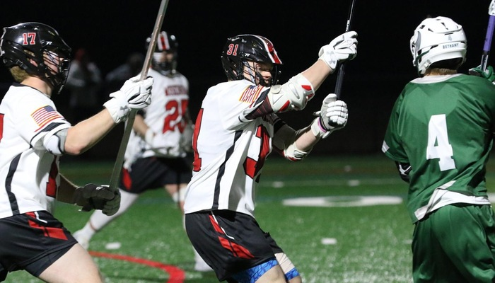 Multiple school records fall as Men's Lacrosse routs Franciscan