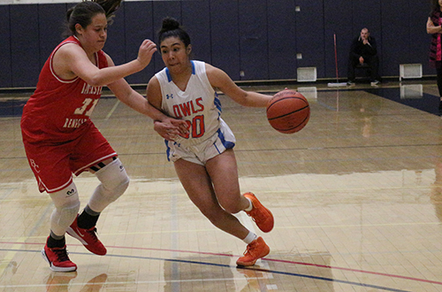 Freshman Samantha Villa matched a season high with eight points on Wednesday evening. Photo By: Brianna Jara