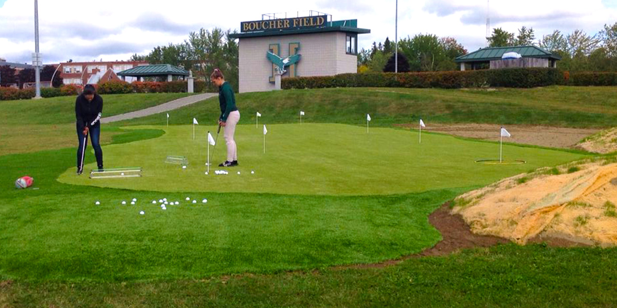 Golf Facility Officially Open on Husson Campus