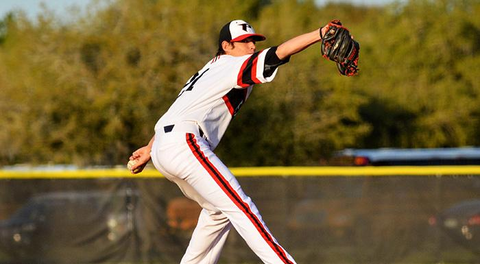 Jordan Barrett pitched seven scoreless innings as the Eagles shut out St. Pete 8-0.