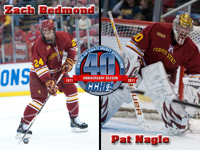 Redmond and Nagle Named To CCHA Preseason All-Conference Team