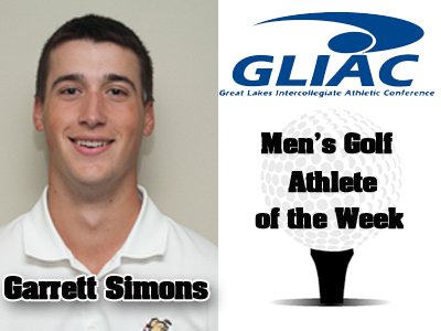 Ferris State's Garrett Simons Earns Conference Weekly Recognition