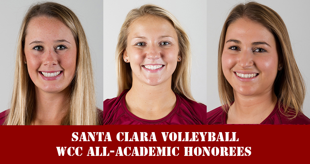 Three Bronco Volleyball Players Named to WCC All-Academic Teams