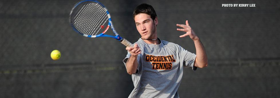 OXY MEN'S TENNIS COMPETITIVE AT FALL ITA