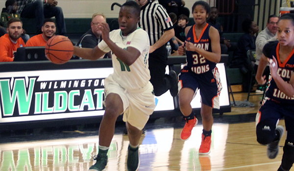 Copyright 2016; Wilmington University. All rights reserved. File photo of Jasmine Lee against Lincoln (Pa.).
