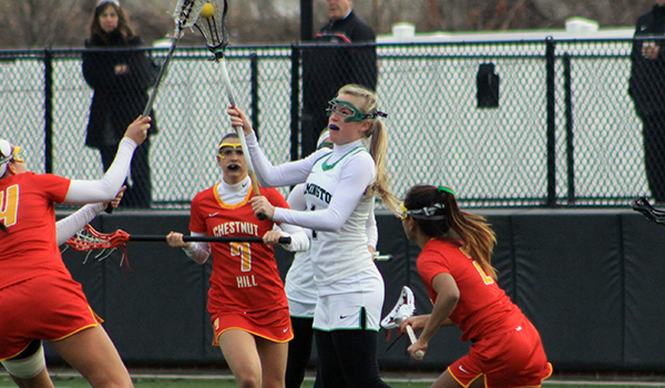 Philadelphia Rallies Late to Take 12-9 CACC Game From Wilmington Women's Lacrosse