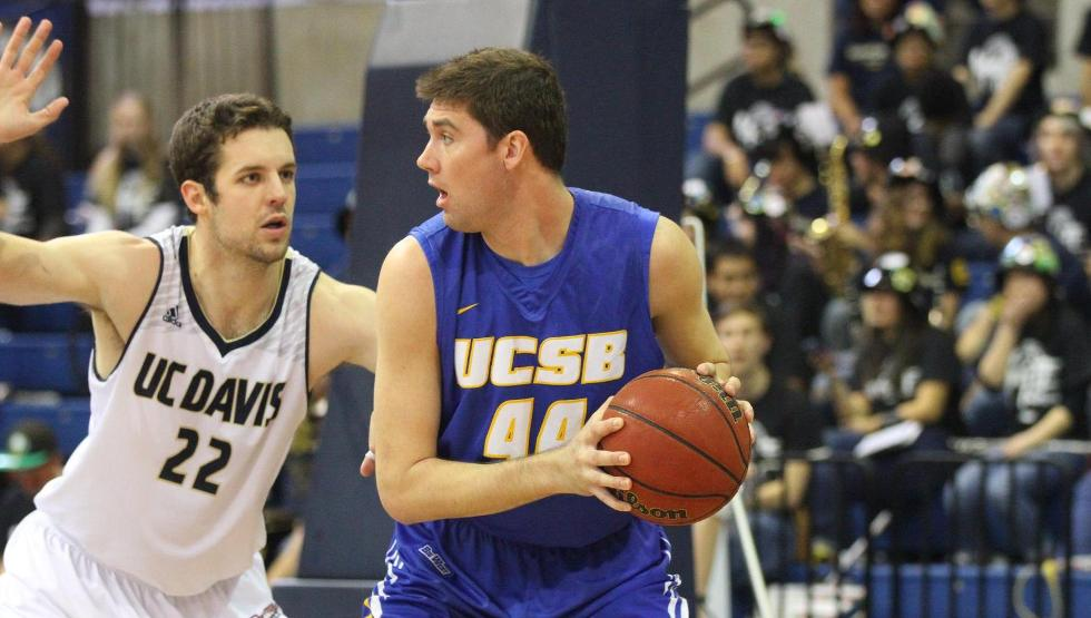 Sam Beeler had 12 points, six rebounds and several key plays down the stretch as UCSB topped UC Davis on Thursday night, 72-66. (Photo by Gerry Fall)