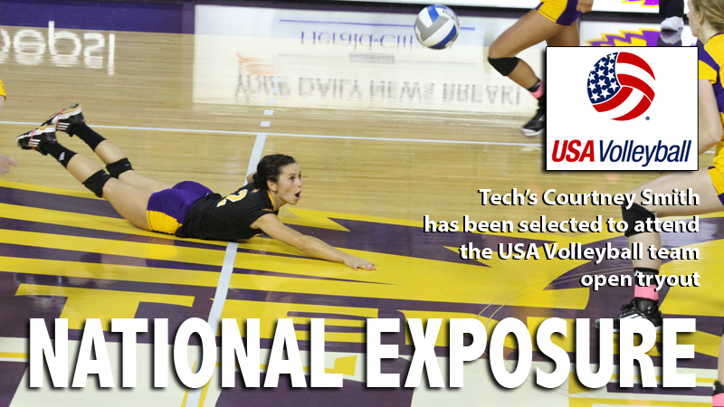 Tech's Smith selected to attend U.S. Women's volleyball open tryout