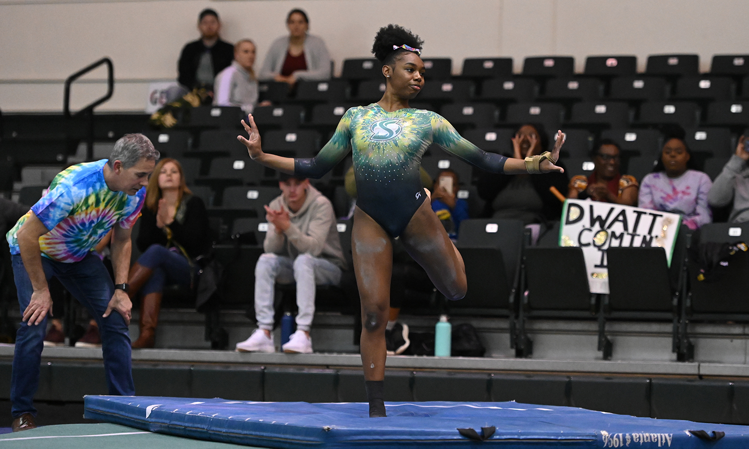 GYMNASTICS FINISHES SECOND, WATLEY FIRST ON VAULT AT SEATTLE PACIFIC TRI-MEET