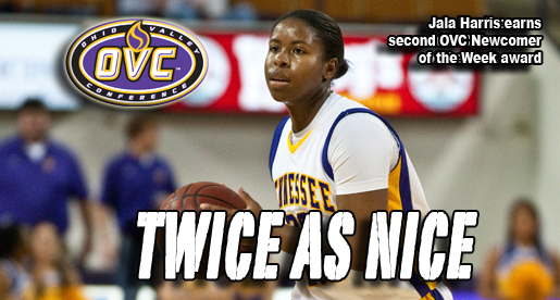 Harris nets second OVC Newcomer of the Week award