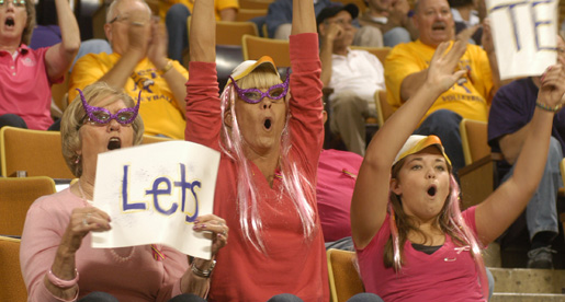 Gray, Meffert and cheering fans lift Golden Eagles to 3-1 OVC victory