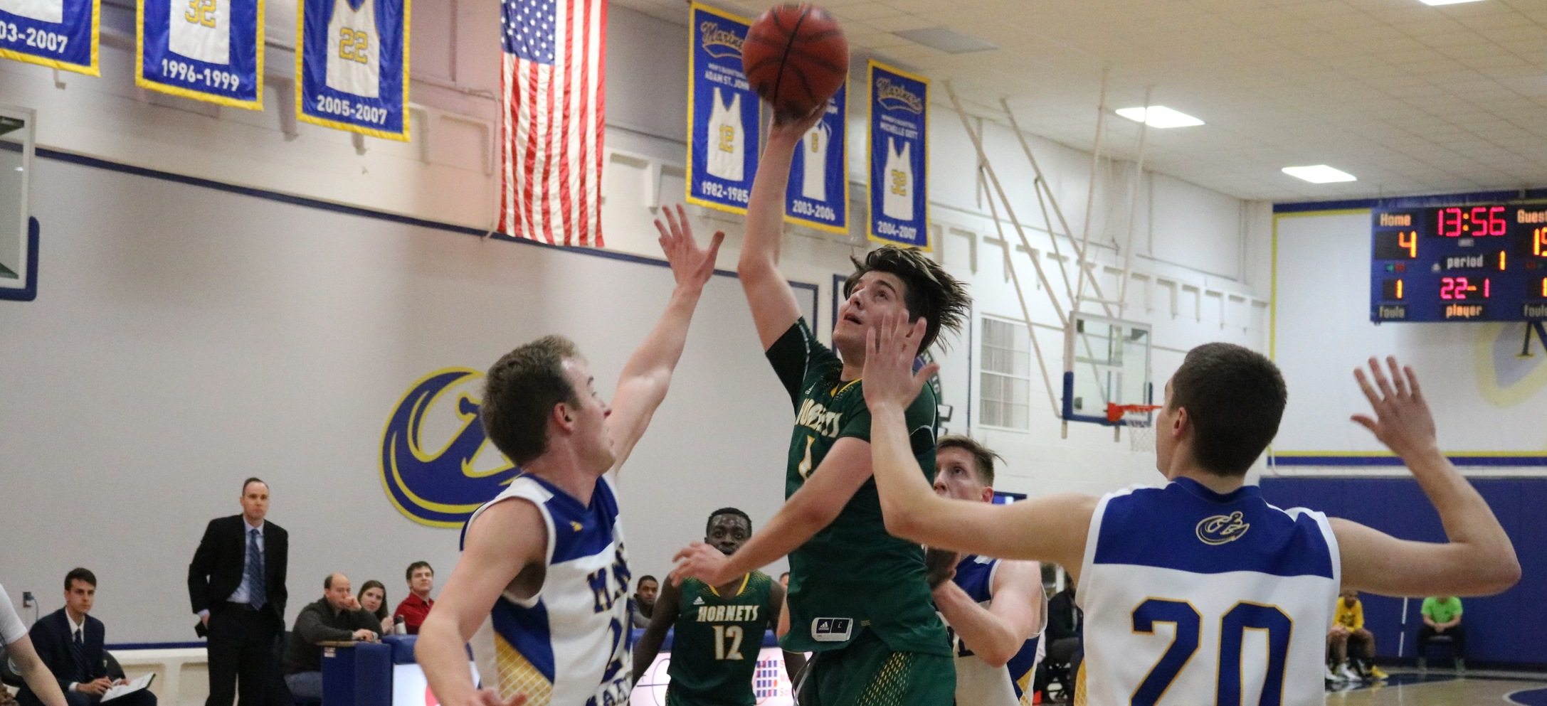Hornet men lead wire to wire in NAC win at Maine Maritime