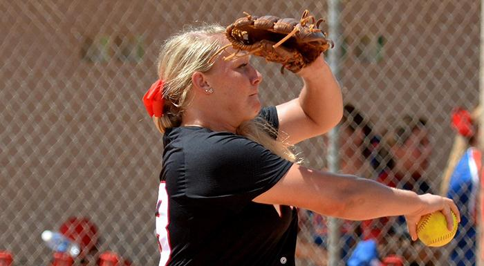 Taylor Baker pitched a complete-game shutout today against Central Florida. (Photo by Tom Hagerty, Polk State.)