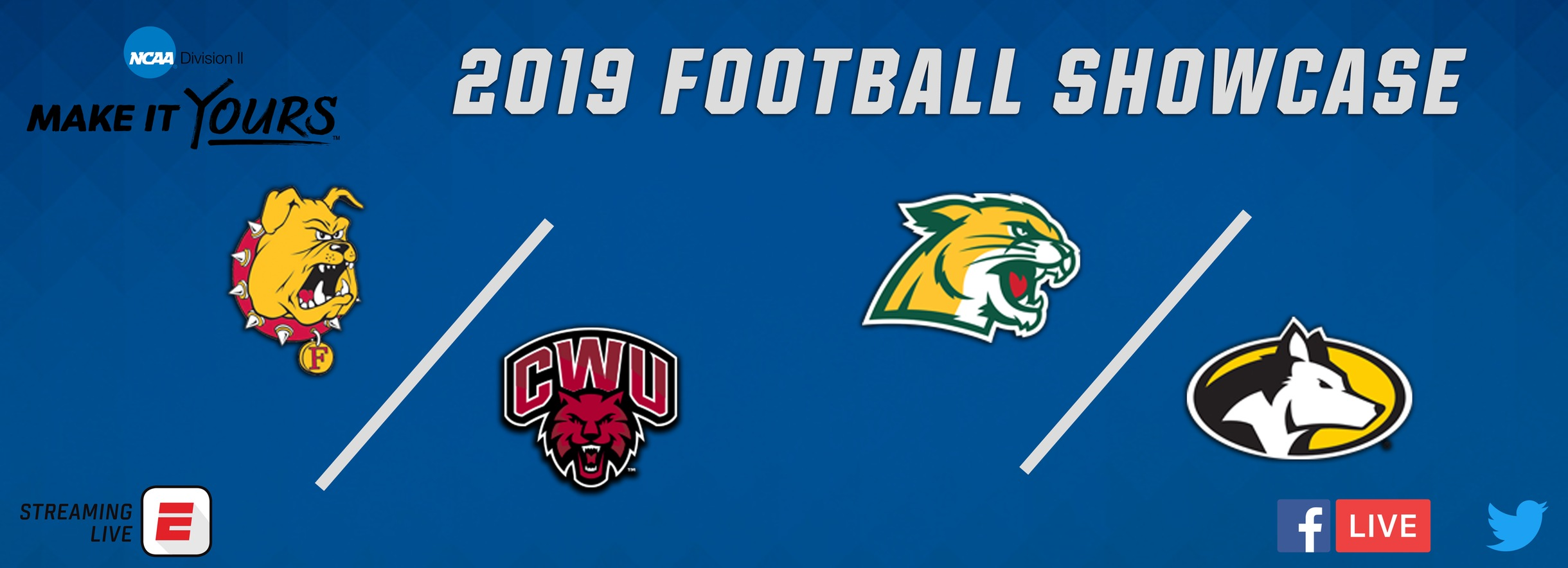 Three GLIAC Football Programs Slated for Division II Football Showcase
