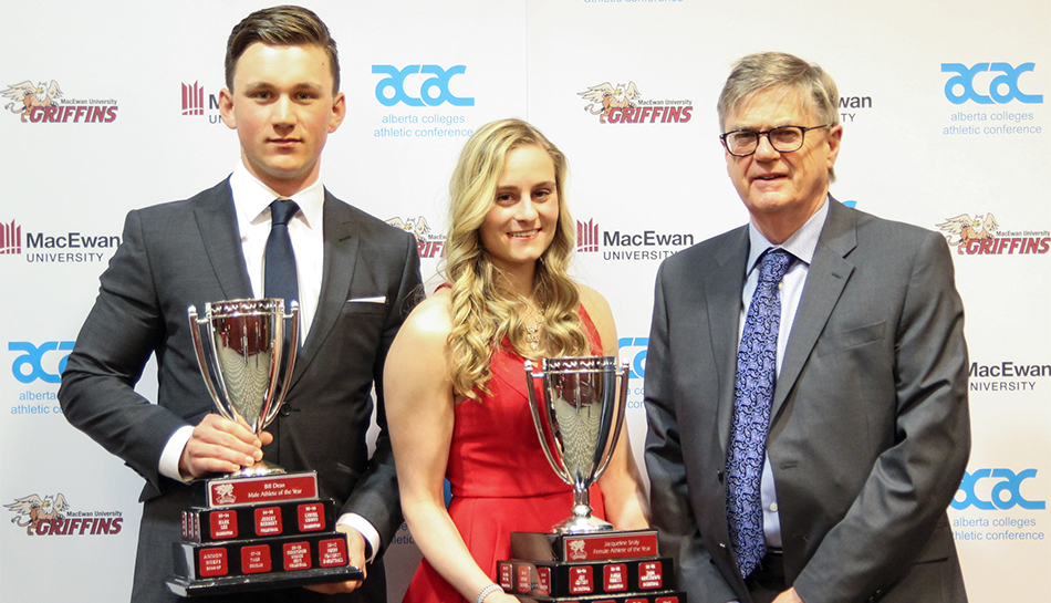 Heim, Belland win major awards at annual MacEwan Athletics banquet