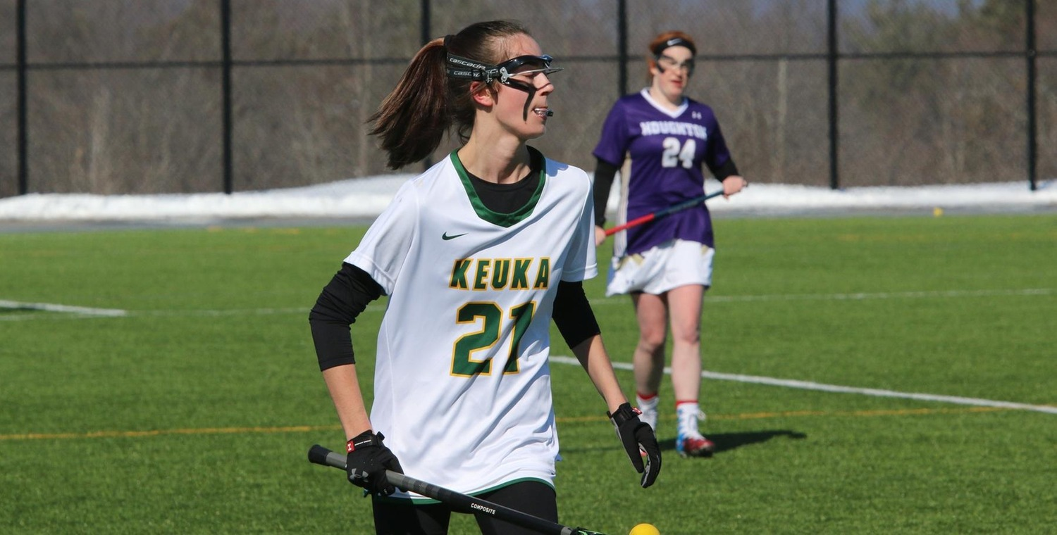 Brenna Voigt (21) had seven goals and 10 total points for the Wolves on Saturday -- Photo by Ed Webber