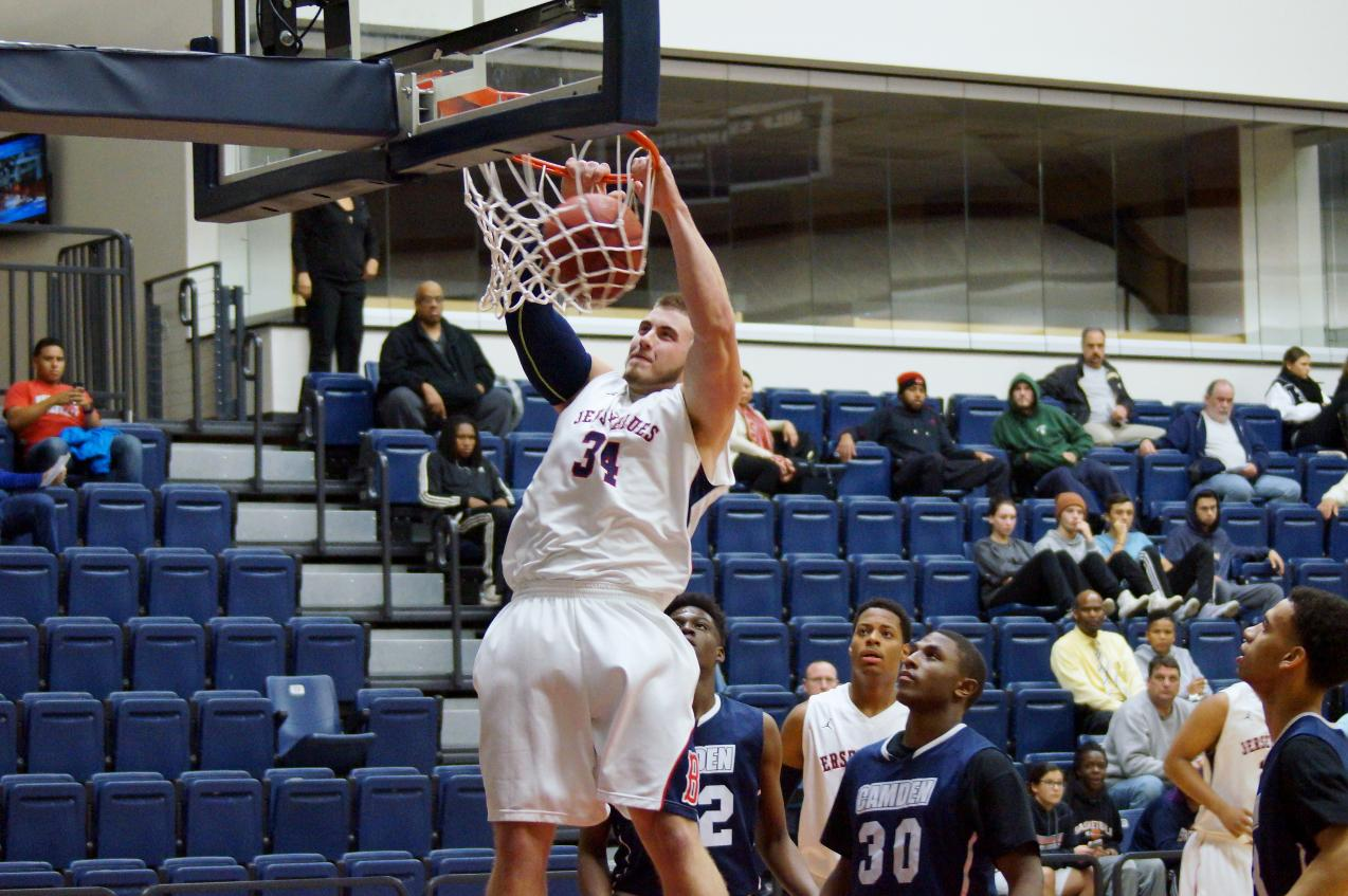 Dillon Salva Double-Doubles; Men's Basketball Out Plays Camden Cougars - Brookdale Athletics