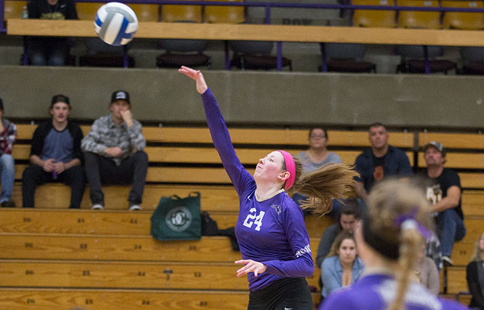 Women's volleyball caps two-match weekend in Connecticut with loss at New Haven