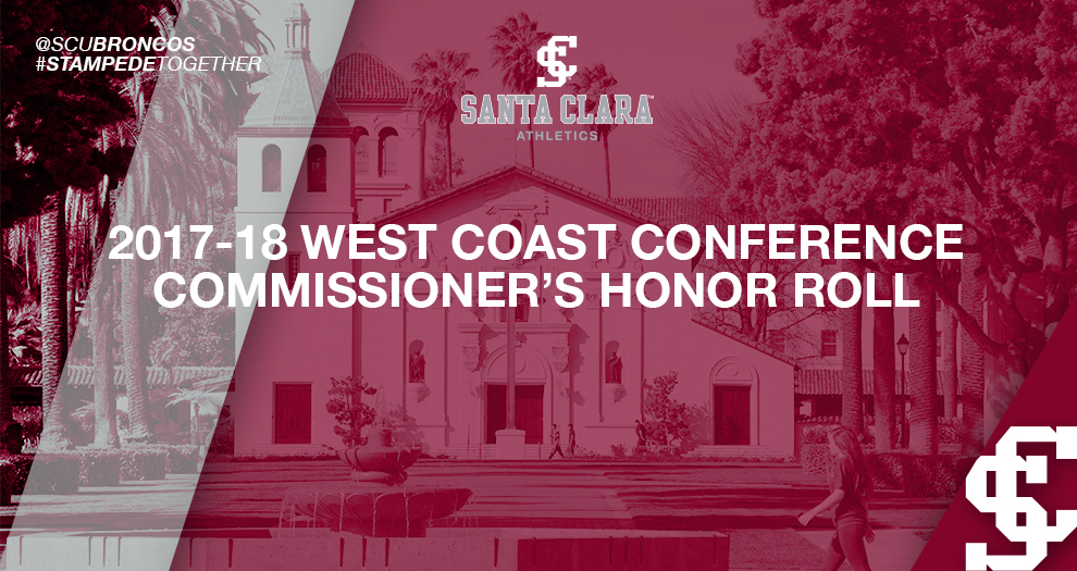 Santa Clara Has Strong Showing on West Coast Conference Commissioner's Honor Roll