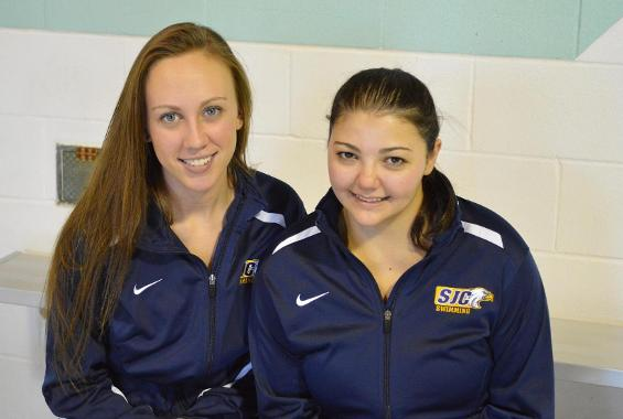 Women's Swimming Upended by Purchase on Senior Day