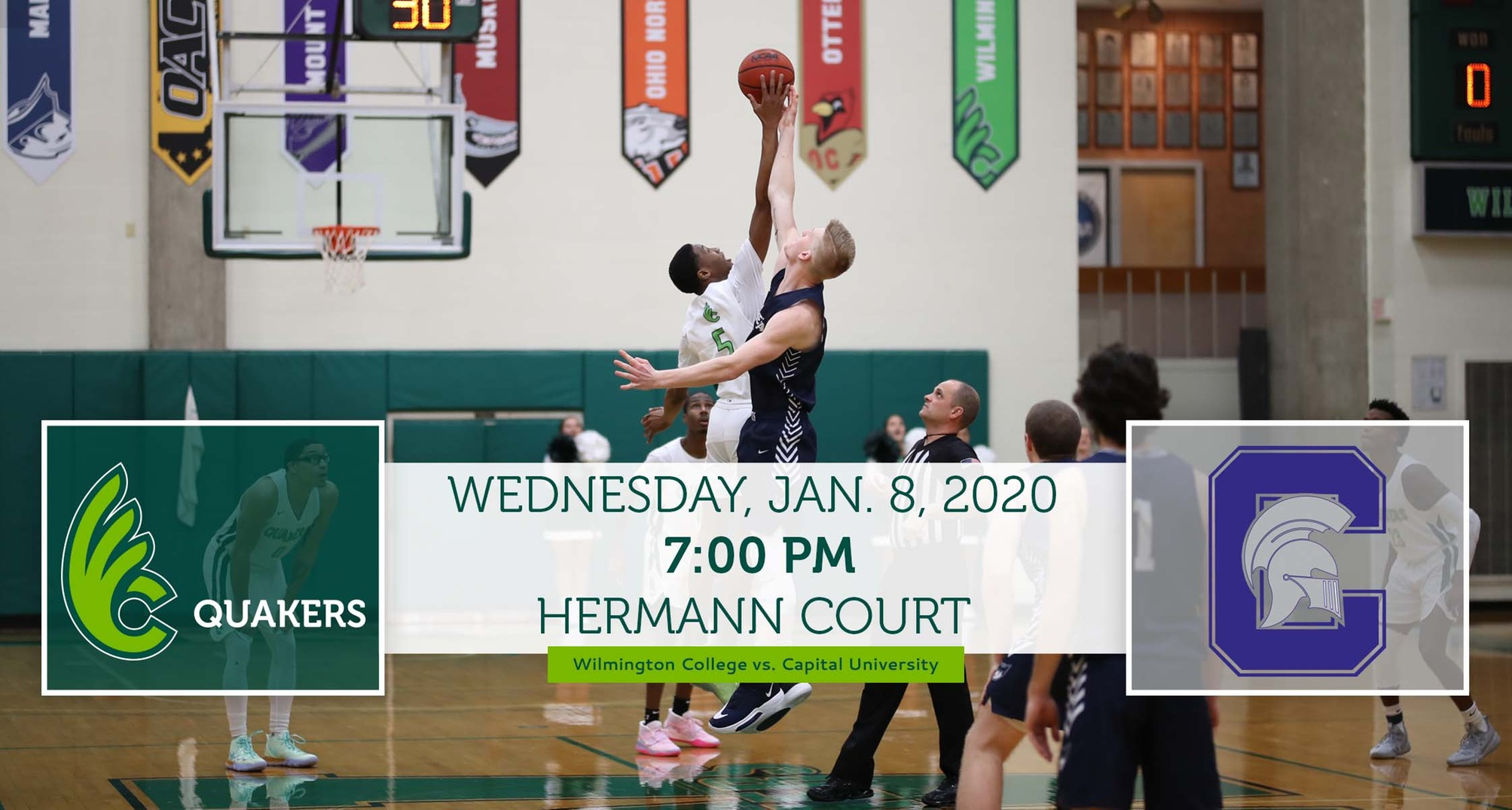 Men's Basketball Hosts Capital on Wednesday