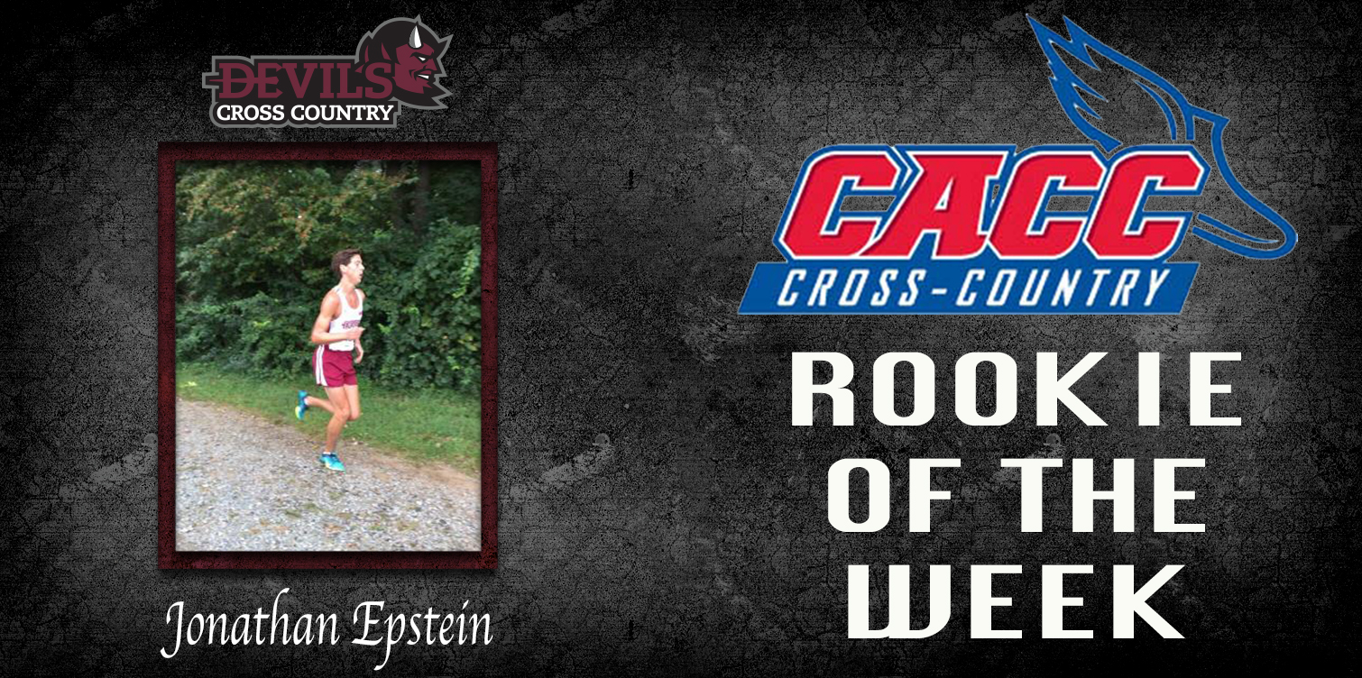 Epstein Captures First CACC Men's Cross Country Rookie of the Week Award