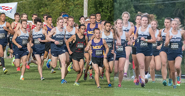 The men's and women's cross country teams start the Lehigh University Invitational in September 2017.