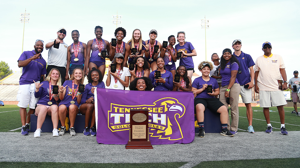 Tech track & field sweeps 2018 conference team titles with win in OVC outdoor championship