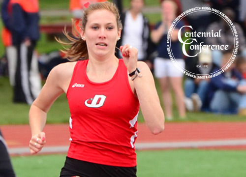 Olivia Schumann ran to third place in the 200 meters, adding a fourth and fifth place showing in the 400 and 4x400 relay at the Centennial Conference Championships on Saturday