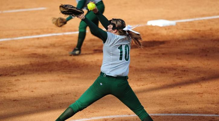Lewis Pitches GC Softball to Sweep Over Flagler, 8-0 and 14-7