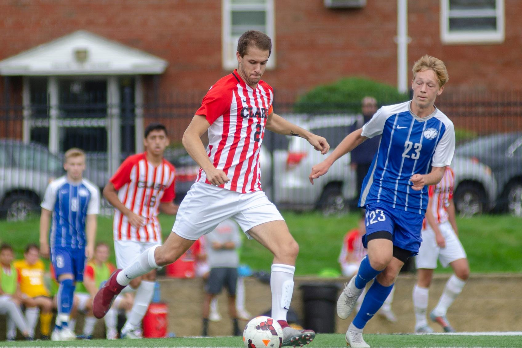 Men's Soccer Soars to NEWMAC Victory Over MIT, 4-1
