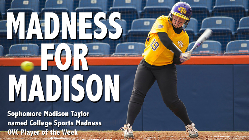 Sophomore Madison Taylor named College Sports Madness OVC Player of the Week
