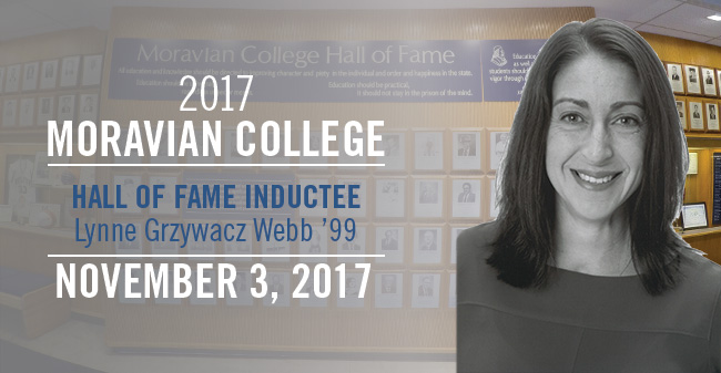 2017 Moravian College Hall of Fame Inductee Lynne Grzywacz Webb, Class of 1999.