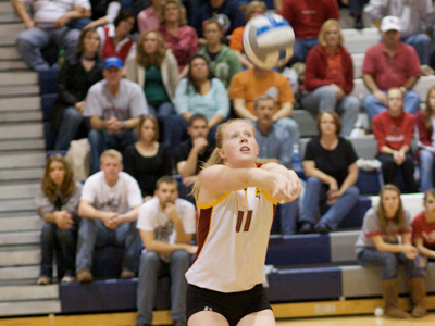 Samantha Fordyce directed the Ferris State offense with a season-high 48 assists in the five-set win.  (Photo by Rod Cannon Photography)