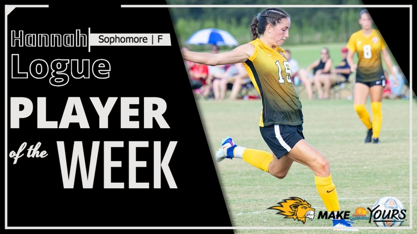 Logue Named Conference Carolinas Women's Soccer Player of the Week Second Time