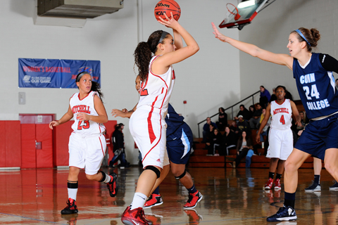 WBB Pushes Past Bay Path in Second Half
