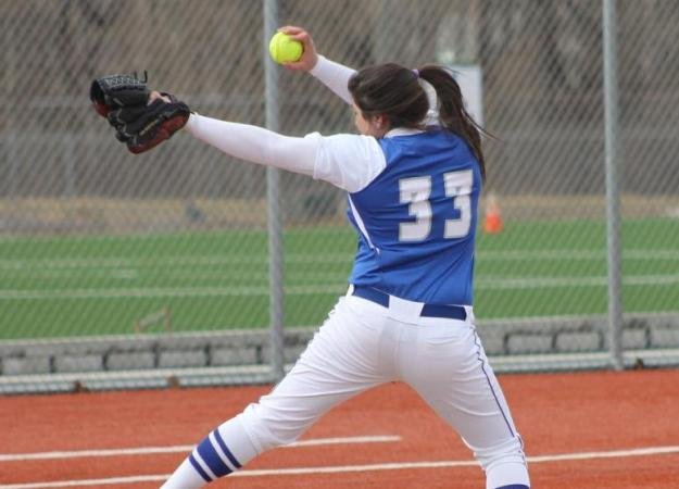 Messina's Shutout Leads Softball to Split