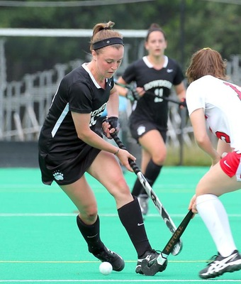 Kara Finnerty tallied a hat-trick on Monday afternoon, accounting for all three Bowdoin goals against USM.