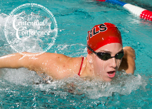 The Red Devil women are in third place after the first day of competition at the Centennial Conference Championships<BR>