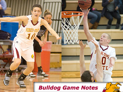 Kylie Muntz (left) and Austin Randel (right) will try to help lead the Bulldogs past NMU and MTU this week (Photos by Ed Hyde)